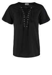 Noisy May Nmorina Print Tshirt Black