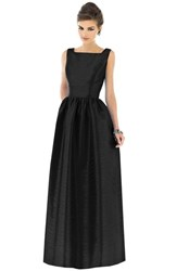Women's Alfred Sung Square Neck Dupioni Full Length Dress