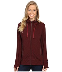 Kuhl Mova Hoodie Syrah Heather Women's Sweatshirt Red