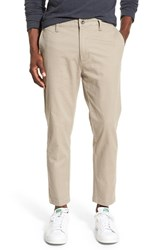 Rvca Men's 'Hitcher' Tapered Fit Cropped Pants Dark Khaki
