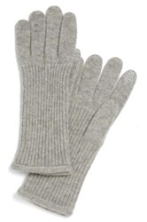Halogen Nordstrom 'Touch Tech' Cashmere Gloves Gray