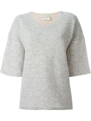 Forte Forte Half Sleeve Boxy Sweater Nude And Neutrals