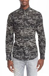 Men's Just Cavalli Trim Fit Kimono Print Shirt
