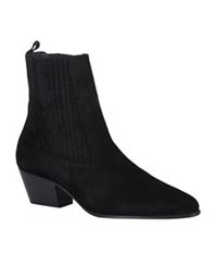 Sandro Amelya Suede Pointed Ankle Boot Black