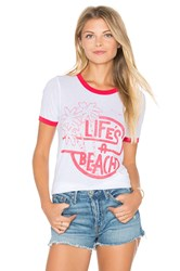 Junk Food Life's A Beach Tee White