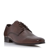 Howick Riser High Shine Leather Derby Shoes Brown