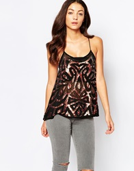 True Decadence Embellished Cami Top Blackcopper