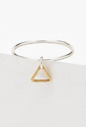 Forever 21 Luna Norte Tiniest Triangle Ring Silver Gold