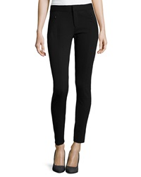 Neiman Marcus Stretch Knit Ponte Pants Black