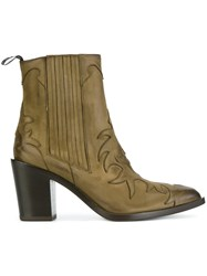 Sartore Western Ankle Boots Green