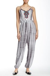 Angie Embroidered Jumpsuit Gray