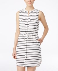 Xoxo Juniors' Striped Drawstring Waist Shirtdress Multi