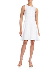 Karl Lagerfeld Crepe Fit And Flare Dress White