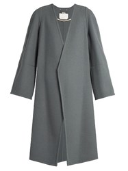 Chloe Double Faced Cashmere Coat Mid Blue