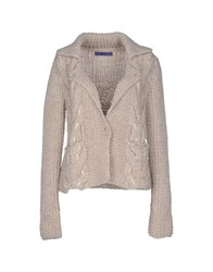 Blue Les Copains Knitwear Cardigans Women Light Grey