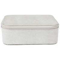 Jaeger Medium Leather Trinket Box Ice Grey