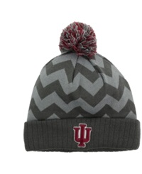 Top Of The World Indiana Hoosiers Chevron Pom Knit Hat Gray