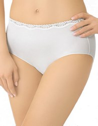 Jockey No Panty Line Promise Tactel Lace Hip Brief Ivory Pearl