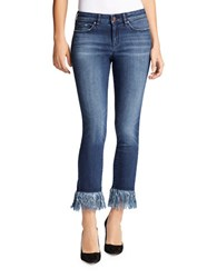 William Rast Fringe Hem Cotton Blend Jeans Memphis Wash