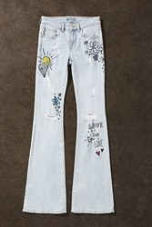 Forever 21 Love Is Love Flared Jeans