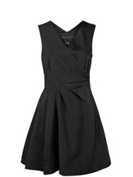 Marc By Marc Jacobs Compact Draped Cocktail Dress Black