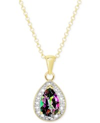 Victoria Townsend Mystic Topaz 1 Ct. T.W. And Diamond Accent Pendant Necklace In 18K Gold Plated Sterling Silver