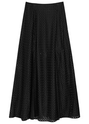 Finders Keepers Peacemaker Black Lattice Effect Maxi Skirt