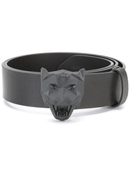 Philipp Plein Tiger Buckle Belt Black