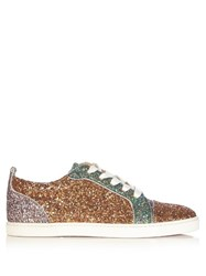 Christian Louboutin Gondoliere Low Top Panelled Glitter Trainers Multi