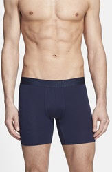 Naked 'Signature' Modal And Cotton Boxer Briefs Blue