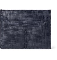 Tod's Cross Grain Leather Cardholder Navy