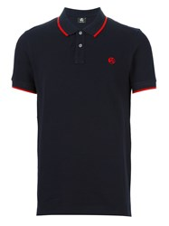 Paul Smith Ps By Contrast Stripe Polo Shirt Blue