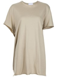 Lost And Found Rooms Side Pocket T Shirt Nude And Neutrals