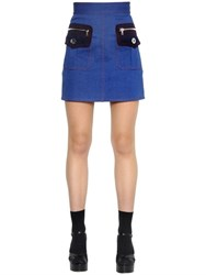 Marc Jacobs High Waisted Cotton Denim Mini Skirt