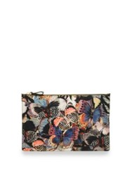 Valentino Camubutterfly Nylon Zip Pouch