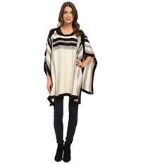 Steve Madden Woven Rectangular Poncho Ivory Women's Sweater White