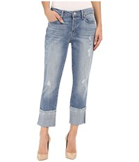 Level 99 Morgan W Embroidery In Sea Sea Women's Jeans Blue