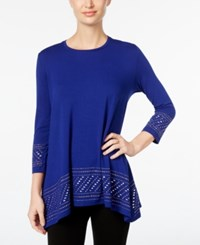 Jm Collection Embellished Tunic Top Only At Macy's Bright Sapphire