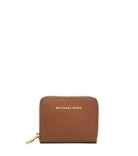 Michael Kors Jet Set Travel Medium Zip Around Saffiano Leather Wallet Luggage