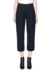 Victor Alfaro Satin Cuff Cotton Pants Black