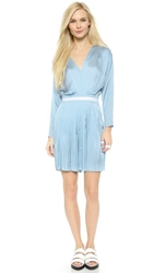 Dagmar Emma V Neck Dress Light Blue
