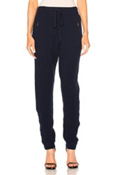 Baja East Cashmere Fisherman Rib Pants In Blue