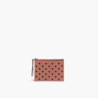 Madewell Leather Pouch Wallet In Holepunch Dried Rose