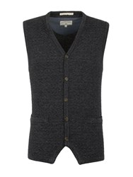 Racing Green Men's Gospel Button Through Lambswool Blend Vest Charcoal