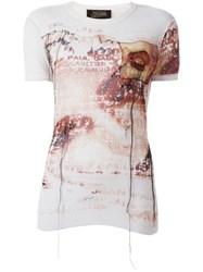 Jean Paul Gaultier Vintage Sheer Printed T Shirt Nude And Neutrals