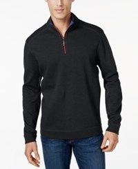 Tommy Bahama Men's Big And Tall Flip Side Reversible Zip Neck Sweater Midnight Oil