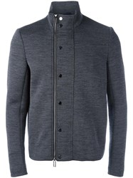 Emporio Armani Zipped Jacket Grey