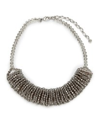 East Faceted Bib Necklace Smoke