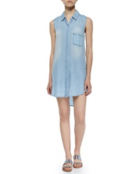 Rails Elizabeth Sleeveless Denim Shirtdress Light Vintage