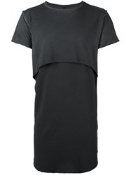 Army Of Me Layered T Shirt Grey